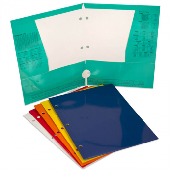 "Paper Portfolio 4 Pocket, 12.5"" x 9.5"" Assorted Glossy Color"