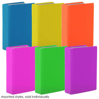 "Stretchable Jumbo Book Cover 9"" x 11"" Assorted Neon Color"