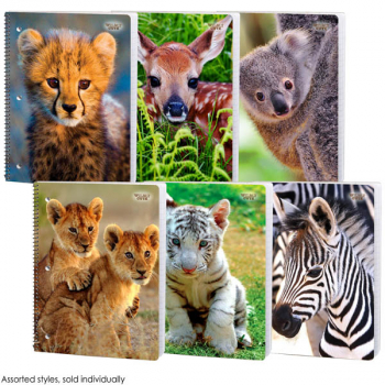 Wildly Cute Wide Ruled Theme Book Assorted Furiously Fluffy Design
