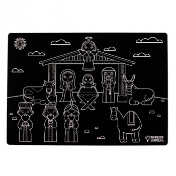 "Chalkboard Nativity - Single 12"" x 17"""
