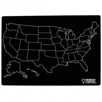 "Chalkboard US Map - Single 12"" x 17"""