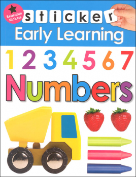 Numbers Sticker Early Learning Activity Book
