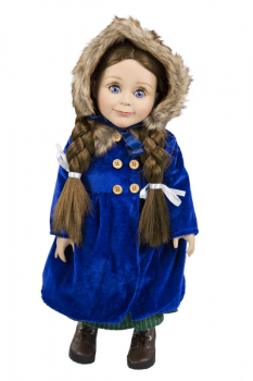 "Vintage Blue Coat with Hat and Muff for 18"" Doll (Little House Dolls & accessories)"