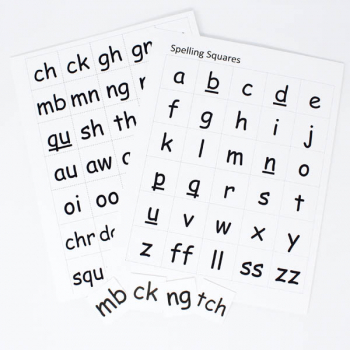 Reading Complete Spelling Squares