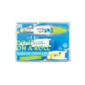 Dogs on a Roll Decorative Sticker Tape & Refills