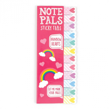 Note Pals Sticky Tabs - Rainbow Hearts