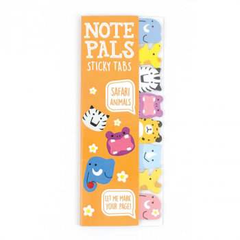Note Pals Sticky Tabs - Safari Animals