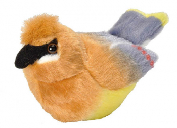 Audubon Bird: Cedar Waxwing Plush With Real Bird Call