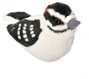 Audubon Bird: Downy Woodpecker Plush With Real Bird Call