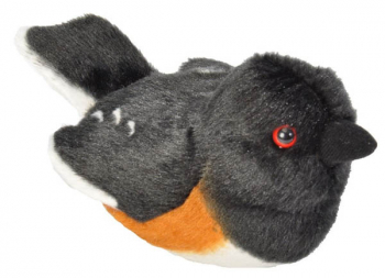Audubon Bird: Eastern Towhee Plush With Real Bird Call