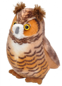 Audubon Bird: Great Horned Owl Plush With Real Bird Call