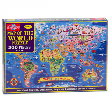 Map of the World 200-Piece Jigsaw Puzzle
