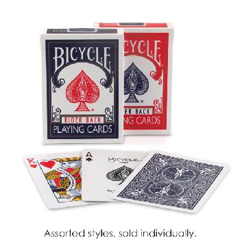 Bicycle Playing Cards-Single Deck,Red or Blue