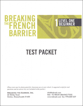 Breaking the French Barrier - Level 1 (Beginning) Teacher Test Packet (print)