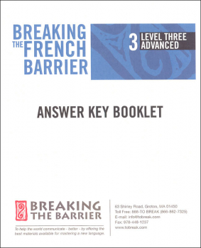 Breaking the French Barrier - Level 3 (Advanced) Answer Key