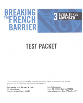 Breaking the French Barrier - Level 3 (Advanced) Teacher Test Packet (print)