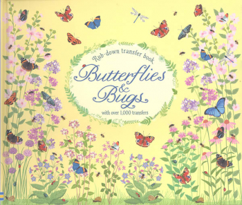 Butterflies & Bugs Rub-Down Transfer Book