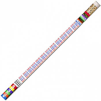 Multiplication Tables Pencils (Dozen)