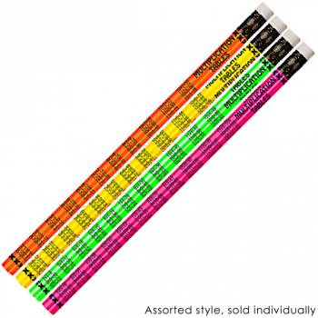 Neon Multiplication Tables Pencils (Dozen)