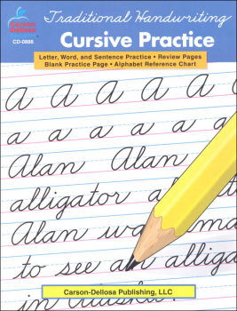 Traditional Handwriting: Cursive Practice Resource Book