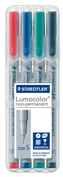 Lumocolor Non-Permanent Superfine Markers (set of 4)