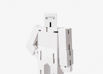 Cubebot Micro (Wooden Toy Robot) white