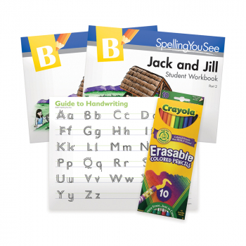 Spelling You See Level B: Jack & Jill Student Pack with Guide