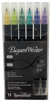 Elegant Writer Dual-Tipped Marker Set (12 colors)