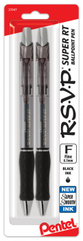 R.S.V.P. Super RT Ballpoint Pen - Black Ink (2 pack)