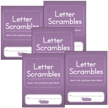 Letter Scrambles 1 Journal set of 5