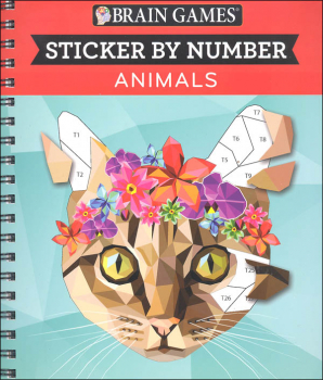 Sticker by Number - Animals (Brain Games 104p