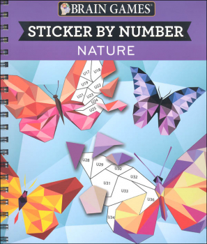 Sticker by Number - Nature (Brain Games 104pg