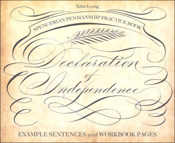 Spencerian Penmanship Practice Book: Declaration of Independence