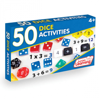 50 Dice Math Activity Cards
