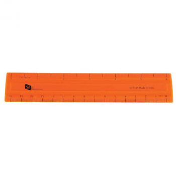 "Shatterproof 6"" Ruler - Orange"