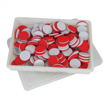 Simple Solution Two Color Red/White Counters (pack of 100)