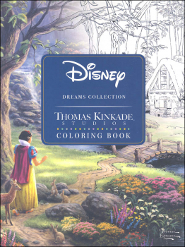 Disney Dreams Collection Original Art by Thomas Kinkade Coloring Book