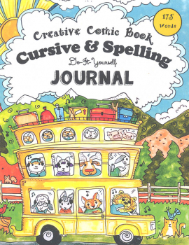 Creative Comic Book Cursive & Spelling Do-It-Yourself Journal