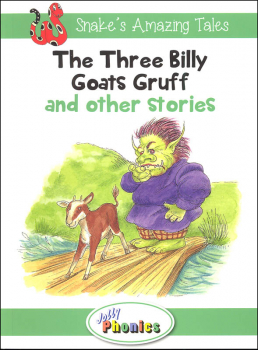 Jolly Phonics Decodable Readers Level 3 Snake's Amazing Tales - Three Billy Goats Gruff and other stories