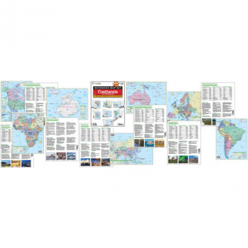Continent Notebook Maps (7 pack) Laminated