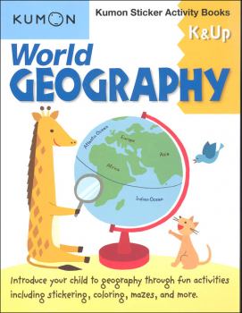 World Geography Kumon Sticker Activity Book K & Up