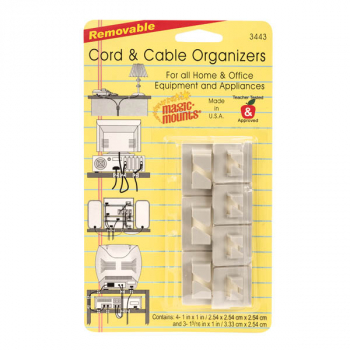 Removable Cord & Cable Organizers (Pack of 7)