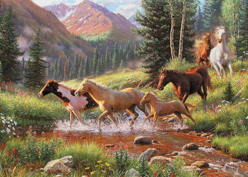 Horse Stream Tray Puzzle (35 piece)