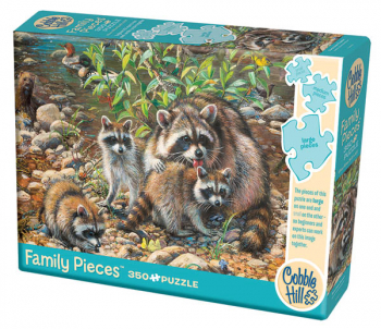 Raccoon Family Puzzle (350 piece)