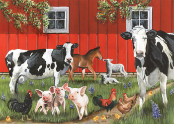 Red Barn Farm Tray Puzzle (35 piece)
