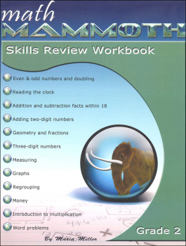 Math Mammoth Grade 2 Color Skills Review Workbook