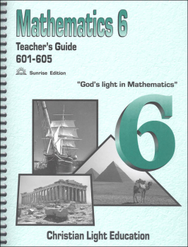 Mathematics Teacher's Guide 601-605 Sunrise Edition
