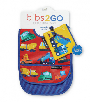 Construction Zone Bibs 2 Go with Pouch