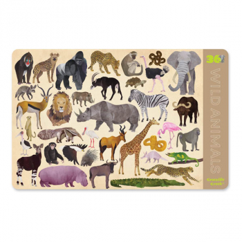 Wild Animals Two-Sided Placemat