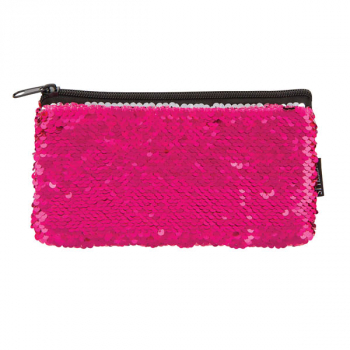 Pink/Silver Magic Sequin Mini Pencil Pouch